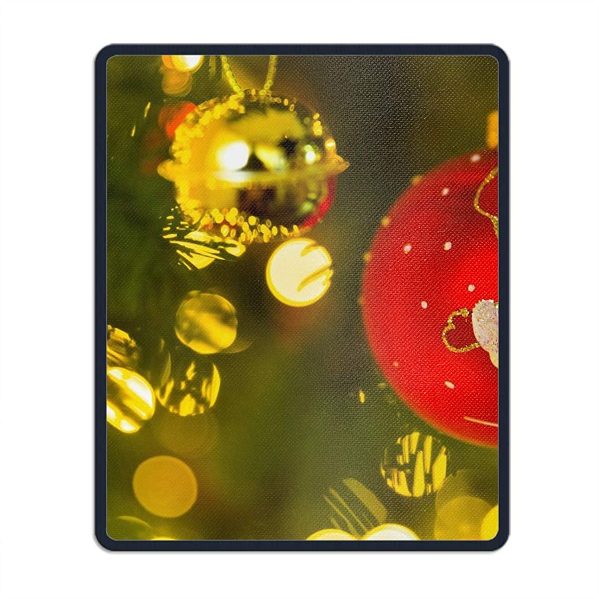Christmas Ornaments Bauble Santa Mouse Pad Printed Non-Slip Rubber Gaming Mouse Pad Mat for Laptop Computer