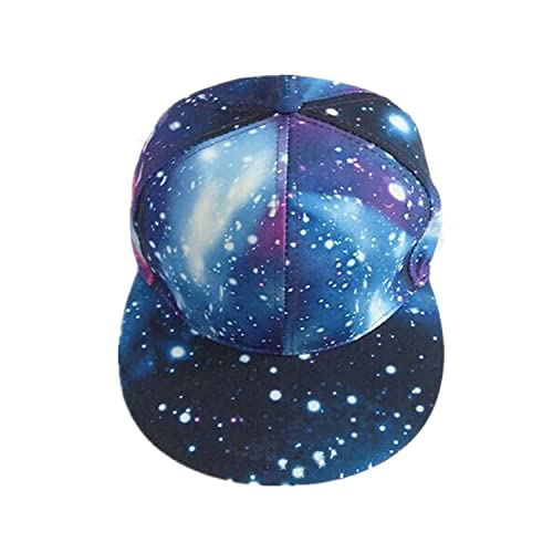 2cfe3ac47b2 BabeMall® Gorgeous Starry Sky Galaxy Space Pattern Design Flat Brim  Adjustable Snapback Baseball Cap Men