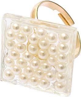 Lilou 埃波 珍珠 戒指 方形 501041719000 均码