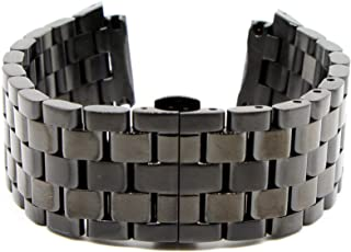 28MM Black Stainless Steel 8 Inches Watch Strap Band Bracelet Fits Challenger Men's Watch New