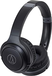 audio-technica ワイヤレスヘッドホン 最大40時間再生 Bluetooth マイク付き 密閉型 ブラック ATH-S200BT BK
