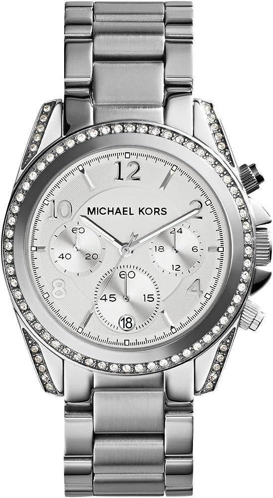 Michael kors orologio per donna  in acciaio inossidabile e lunetta con cristalli MK5165