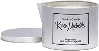 Destiny Candle by Karen Michelle - Mint Chocolate Scented Massage Oil Jewelry Candle (Tin)