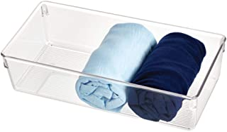 InterDesign Linus boite tiroir pour armoire ou coiffeuse, grande boite de rangement plastique de 30,5 cm x 15,2 cm x 7,6 c...