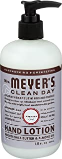 Mrs. Meyer's Clean Day Hand Lotion, Long-Lasting, Non-Greasy Moisturizer, Cruelty Free Formula, Lavender Scent, 12 oz