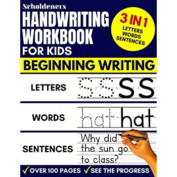Handwriting Workbook for Kids: 3-in-1 Writing Practice Book to Master Letters, Words & Sentences