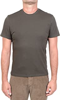 MAJESTIC FILATURES MOD. M537-HTS022 - Camiseta de cuello redondo de algodón Silk Touch para hombre, verde