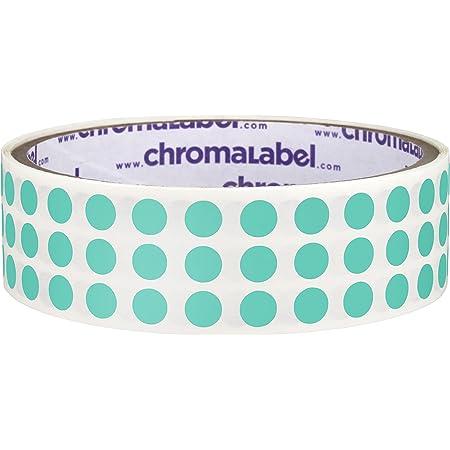 1000 per Roll ChromaLabel 1//4 Inch Round Permanent Color-Code Dot Stickers Aqua