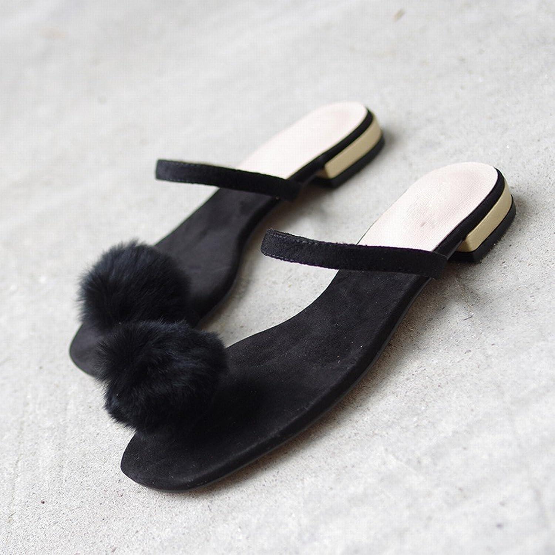 SED Flache Schuhe der Modeabnutzung der Frau Zehen Wilde Wilde Faule Frauensandalen  günstig online
