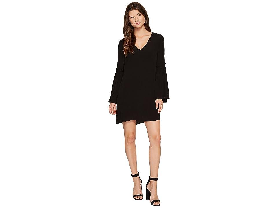 1.STATE Bell Sleeve Swing Dress (Rich Black) Women