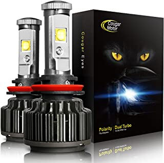 CougarMotor LED Headlight Bulbs All-in-One Conversion Kit - 9005 -7,200Lm 60W 6000K Cool White CREE - 3 Year Warranty