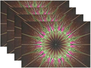 YPink Julian Star Star Fun Green Violet Julian Abstract 1420623 Placemats Set of 4 Heat Insulation Stain Resistant for Dining Table Durable Non-Slip Kitchen Table Place Mats