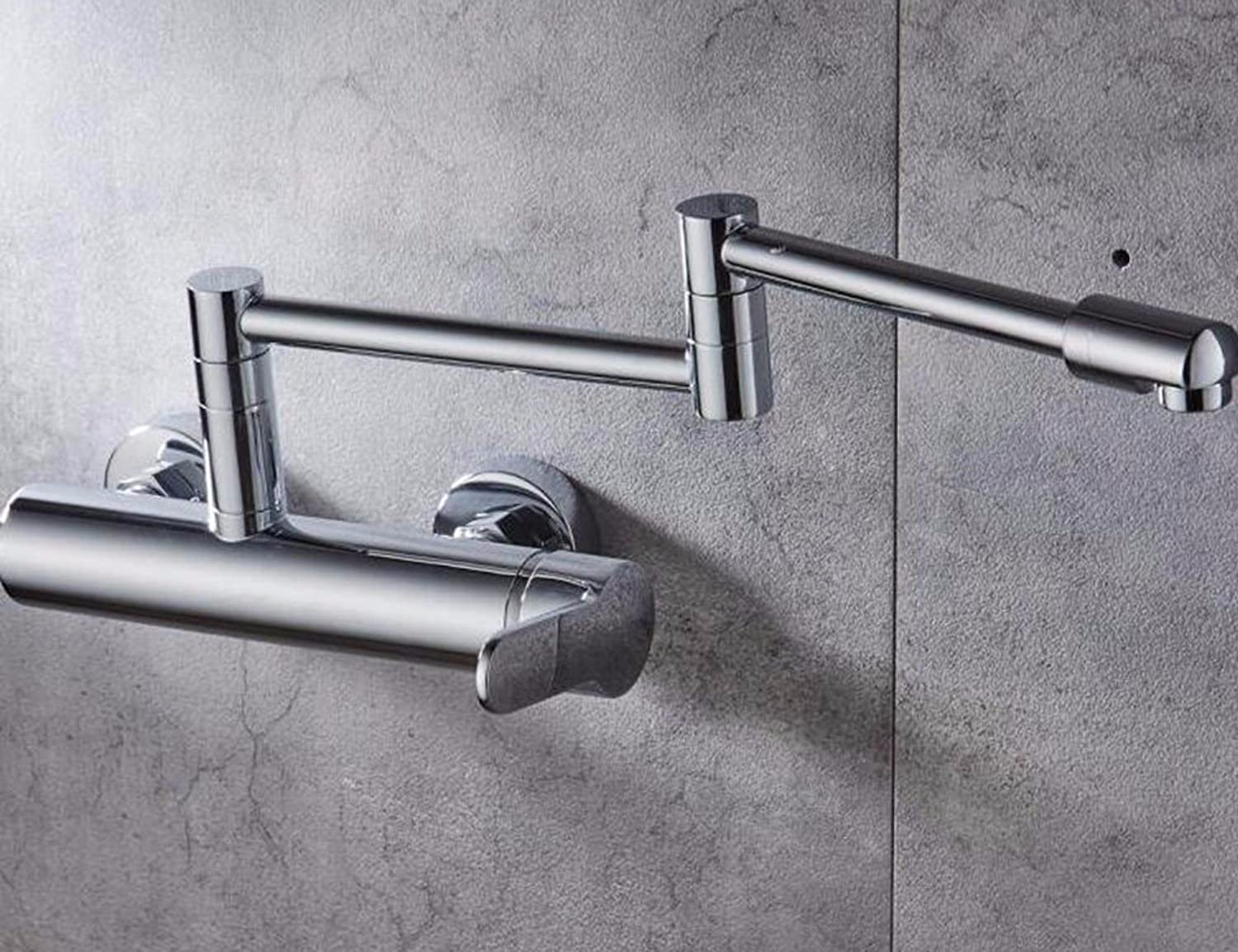 Qmpzg-All Copper Wall Mounted Hot And Cold Shower?Kitchen Faucet?Laundry Pool Cuisine Basin Of Water Taps Slot?Click To redate The Faucet?C
