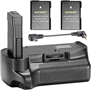 Neewer Professional Vertical Battery Grip with 2 Packs 7.4V 1050 mAh EN-EL14 Replacement Li-ion Batteries Compatible with ...