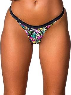 Wicked Weasel Havana Multicolor Floral Print Cheeky Brazilian Scrunch Bikini Bottom (252) Women's Swimsuit