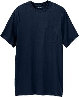 Men's Big & Tall Shrink-Less Lightweight Longer-Length Crewneck Pocket T-Shirt