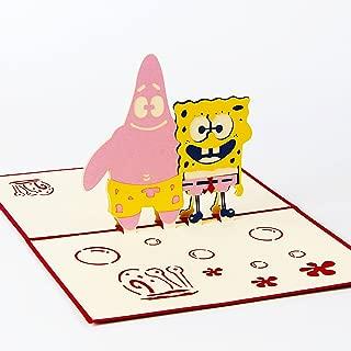 Jerry & Maggie - Pop Up Greeting Card - Spongebob Squarepants Patrick Card 3D Paper Greeting Thank You Card Handmade Halloween Thanksgiving Kids Birthday Anime Comic Superhero