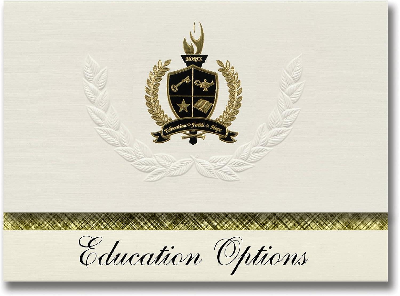 Signature Ankündigungen Bildung Optionen (Neue Hampton, IA) Graduation Ankündigungen, Presidential Stil, Elite Paket 25 Stück mit Gold & Schwarz Metallic Folie Dichtung B078TNDS1R    Genial Und Praktisch