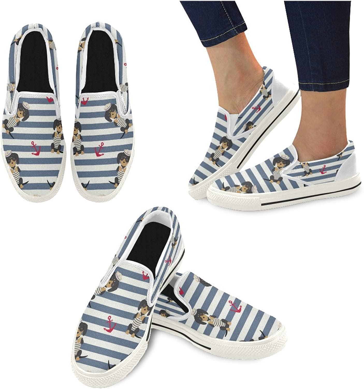 InterestPrint Women's Slip-on Canvas shoes Fashion Sneaker