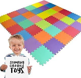 30*30*1cm QQC-Jb18N Beige qqpp EVA Puzzle Tapis Mousse Bebe Id/éal pour Les Tapis De Jeux Enfant,18 Dalles