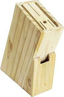 Wagtail Bloc en bois pour couteaux et ustensiles de cuisine Bloc porte-couteaux de cuisine. Dimensions : 16 x 22 cm.