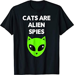 Funny Cats Are Alien Spies T-Shirt For Men Women And Kids
