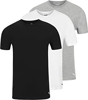 PUMA Men's 3 Pack Crew Neck T-Shirts