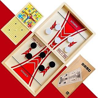 Mansmerton Fast Sling Puck Game for Kids & Adults,3 in 1 Large Size 22 x 12 in,Sling Puck Game for Parent-Child.Super Winn...
