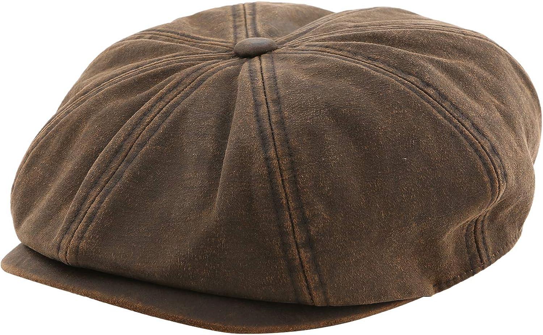 Accessorama Summer Newsboy Hats and Caps for Men&Women Adjustable Classic Visor Beret Cap Soft