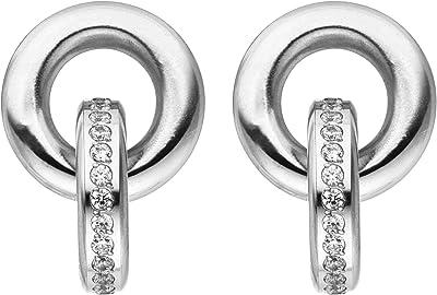 Tamaris, orecchini in acciaio inox Emily, 2 cm, colore: argento