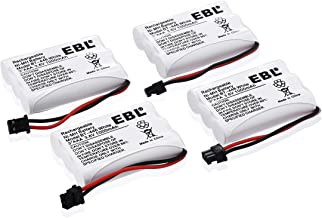 EBL BT-446 Cordless Phone Battery 1000mAh 3.6V Ni-MH Replacement Rechargeable Battery for Uniden Cordless Phone BT-446, BT-1005, TRU8885, TRU8885-2 (4-Pack)