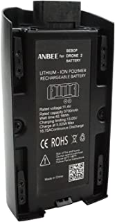 Anbee 3700mAh 11.4V High Capacity Battery for Parrot Bebop 2 FPV/Bebop 2 Power/Bebop 2 Adventurer Drone Quadcopter