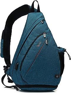 TUDEQU Sling Bag, Umhängetaschen, Sling Rucksack, Crossbody Bag Backpack, Schultertasche, Hiking Sports Backpack, Casual D...