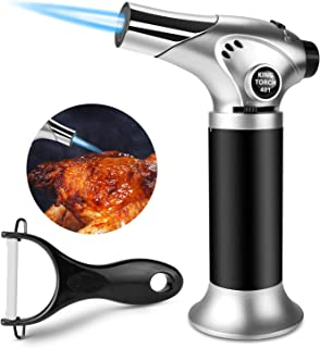 Gibot Culinary Torch, Blow Torch Kitchen Refillable Butane Torch Lighter with Adjustable..