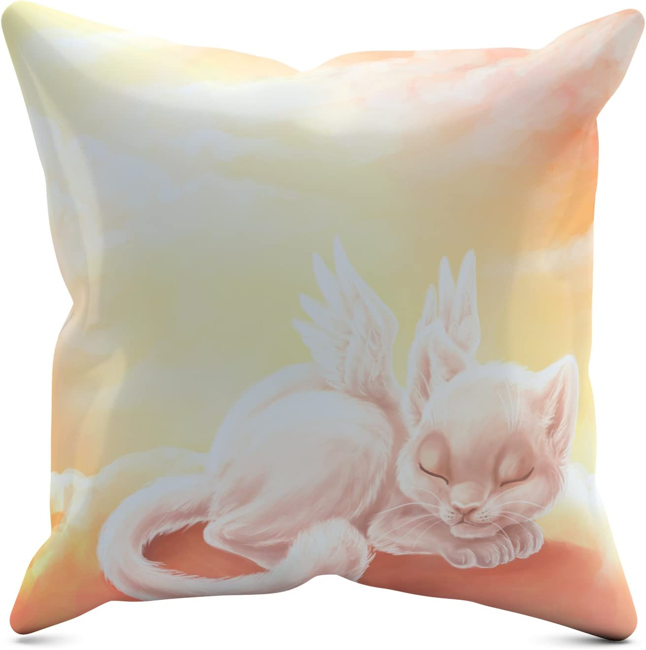 Picanova Angel Kitty 40 x 40 cm – Premium Decorative Cushion with Filling – Decoration for Baby and Children's Room with Choice of Motif – Children's Collection Design by Dolphy