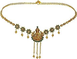 Sanjog Stylish Traditional Gold Plated Kundan & Stone Studded Temple Kamarband for Women