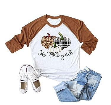 Pumpkin Shirts for Women Funny Halloween Clothing Fall T-Shirts Top
