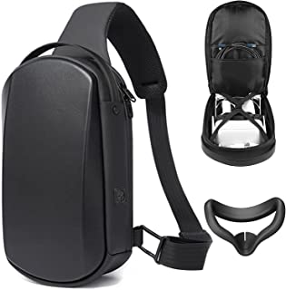 Oculus Quest 2 Carrying Case and Face Cover - Waterproof, Portable Protection - Fit to Elite Strap, Halo Strap and All The...