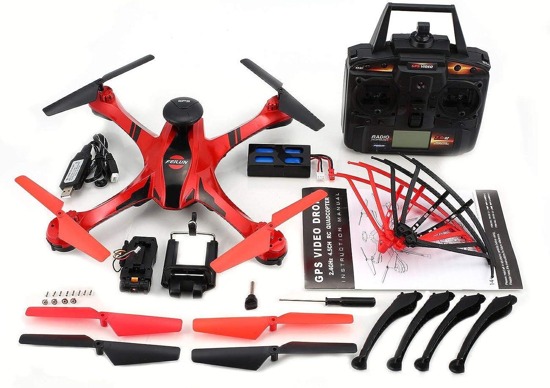 Jiobapiongxin FX176C1 2.4G 4.5CH 2MP Kamera mit GPS-Videoflugspur gebürstetem Quadcopter JBP-X