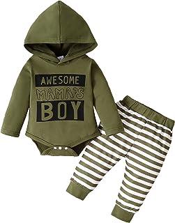Baby Boy's 2pc Hoodie Onesie and Pant Set