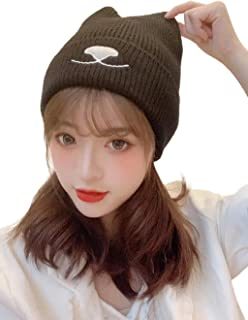 Women Winter Hat Knit Beanie New Outdoor Runner Ski Hat Fleece Lined