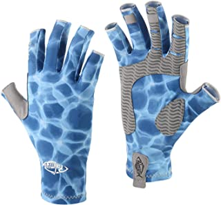 Palmyth UV Protection Fishing Fingerless Gloves UPF50+...