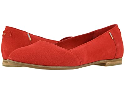TOMS Julie (Poinsettia Suede) Women