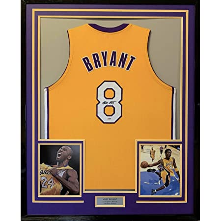 Framed Autographed/Signed Kobe Bryant 33x42 Los Angeles LA Yellow ...