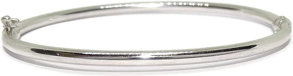Never say never  bracciale rigido per donna in oro bianco 18 k/750(4,1gr) 040W3575