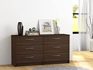HOMESTAR Finch 6 Drawer Dresser, 54.5