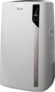 DeLonghi Pinguino 4-in-1 Portable Air Conditioner, Heater, Dehumidifier and Fan + Remote Control and Wheels, WiFi and Smart Speaker Compatible, Large Room, 500 sq. ft, White