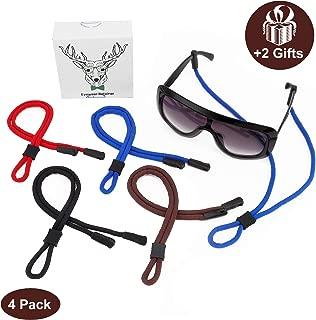 Eyeglass Cord Sunglass Strap Holder String Eyewear Retainer for Men Women 4 Pcs