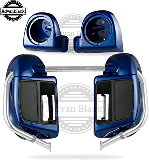 In Stock Superior Blue Rushmore Lower Vented Fairings 6.5 inch Speaker Pods Fit for Harley Touring Road Glide Street Glide Road King Electra Glide Ultra Classic 2014 2015 2016 2017 2018