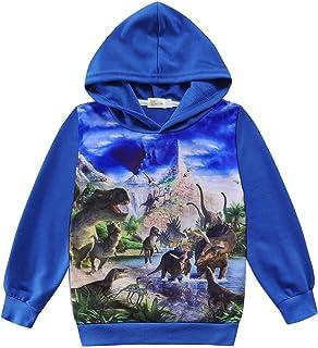 CM-Kid Sudadera con capucha para niño con impresión 3D, algodón, para primavera, verano, otoño, 1-7 años, 92-122